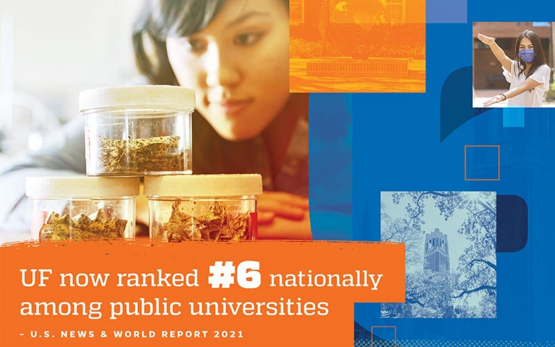 UF now ranked #6 nationally among public universities - US News and World Report
