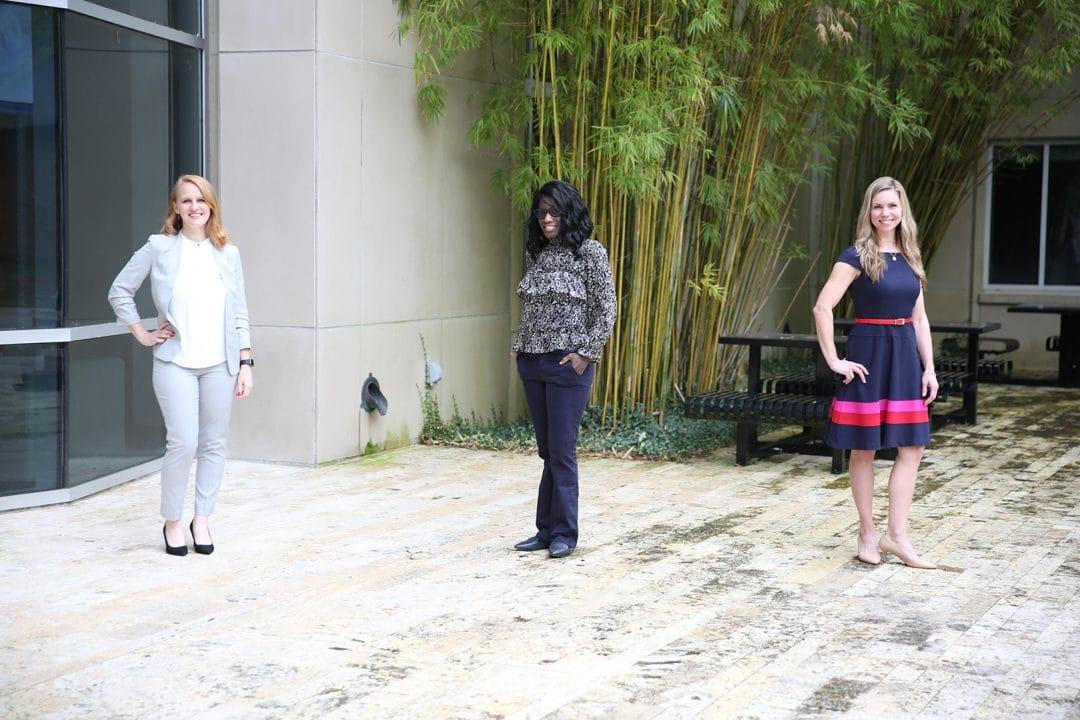 Carly Escue, Keisha Hunte and Sian Morgan.