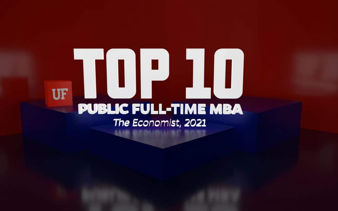 Top 10 Public Full-Time MBA, The Economist, 2021