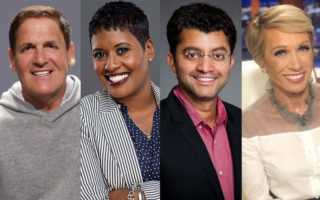 Mark Cuban, Sherron Washington, Anindya Ghose and Barbara Corcoran.