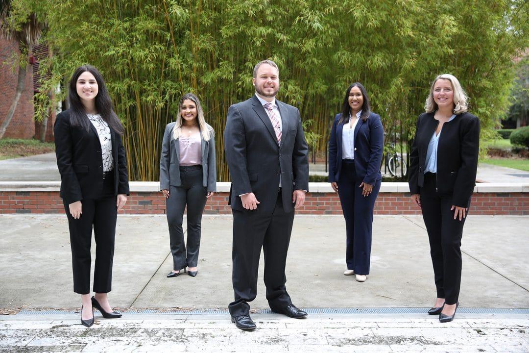 From left: Mercedes Suazo, Valentina Rendon, Jackson Budnik, Shreya Dundigalla and Caitlyn Torres.
