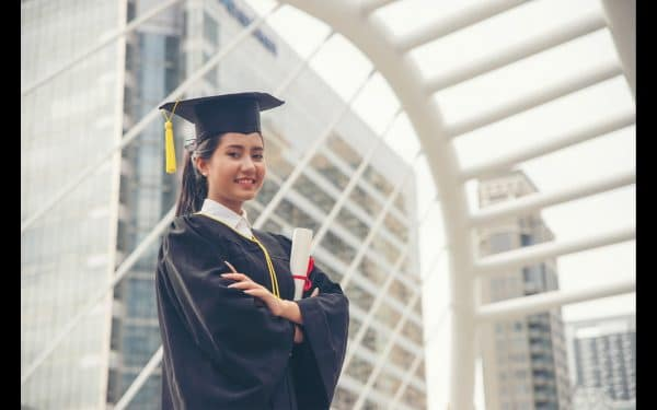 Young graduate considering a master's degree