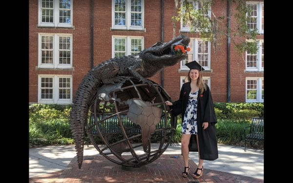 Tara Bode graduated from the Warrington College of Business