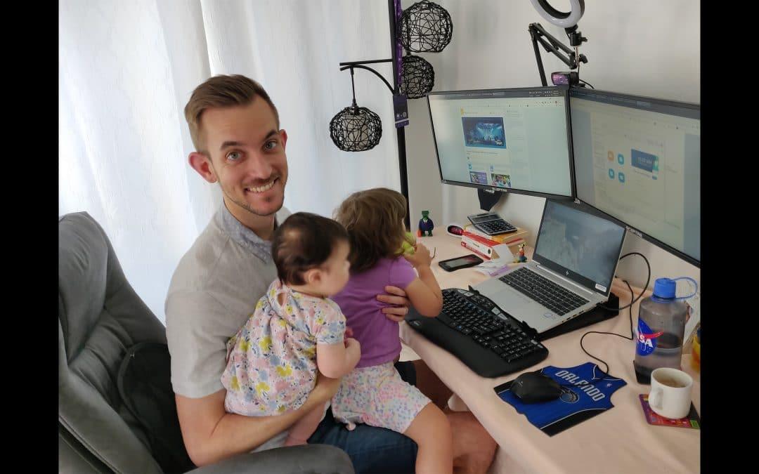 Sam Campion balances fatherhood with his MBA