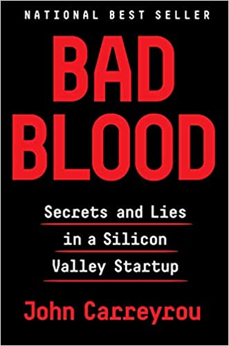 Bad Blood book cover by John Carreyrou