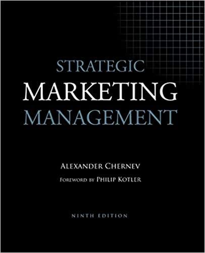 Strategic Marketing Management book cover by Alexander Chernev