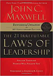 The 12 Irrefutable Laws of Leadership by John C. Maxwell book cover