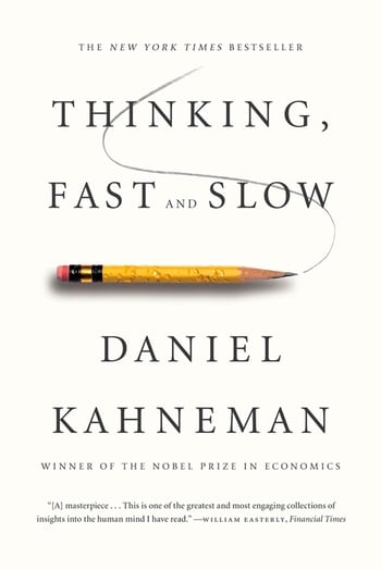 Thinking Fast and Slow book cover by Daniel Kahneman