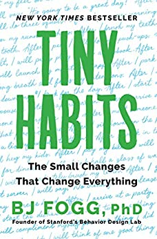 Tiny Habits by BJ Fogg book cover
