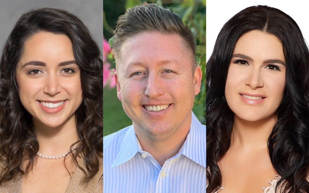 UF MBA Online Class of 2022 students Nicole DeNicola, Christopher Hazell and JaNice Cranmer.